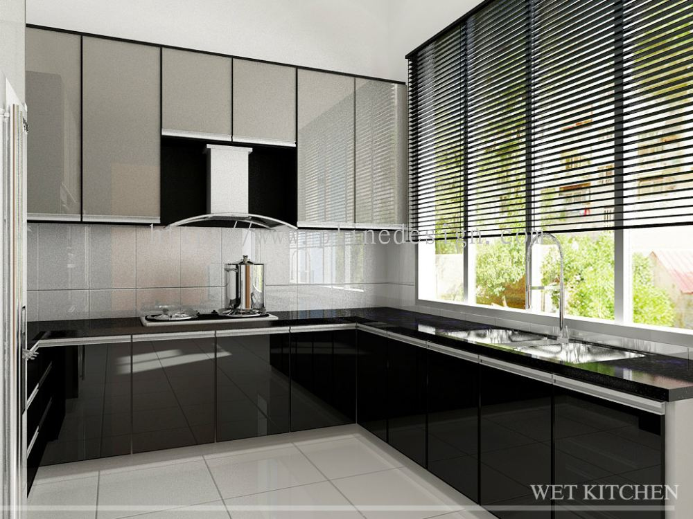 wet kitchen design seri alam project other pline