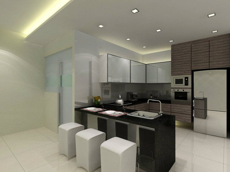 Wet Kitchen Concrete Tile Design Kitchen Design Gsenhome Home Deco Design Id 86682