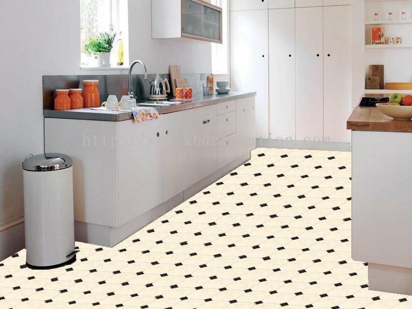 Vinyl floor tiles kitchen