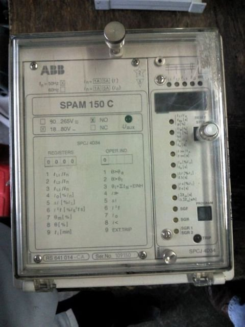 Abb motor protection relay spam 150c spaf spad spae spaj for Abb motor protection relay catalogue