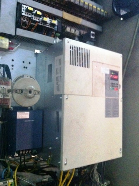 Lift control system upgrade project convert 45kw keb f4 vsd to yaskawa