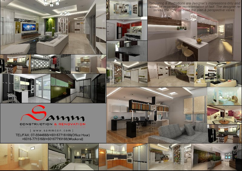 Interior design Johor Bahru . Ubah suai Rumah . 设计与建筑工程