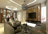 Living Hall Design Taman Gaya