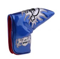 Homyl Golf Blade Putter Head Cover Headcover & Cool Funny Skull Pattern, Magnetic Bar Closure - Blue