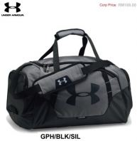 UA Duffle Boston Bag Graphite/Black/Silver