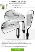 Titleist 620 MB Irons Kuro Kage TiNi 85 4-9P GRAPHITE IRON SET