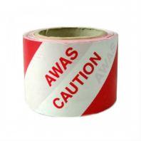 """Awas Hazardous Warning Tape 3"""" (70mm)"""