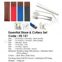 Essential Straw & Cutlery Set  HS 121
