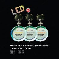 Fusion LED & Metal Crystal Medal CM-100AD