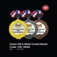 Fusion LED & Metal Crystal Medal CM-102AD