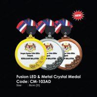 Fusion LED & Metal Crystal Medal CM-103AD