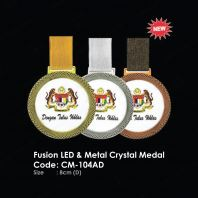Fusion LED & Metal Crystal Medal CM-104AD