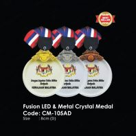 Fusion LED & Metal Crystal Medal CM-105AD