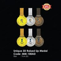 Unique 3D Raised Up Medal MM-100AD