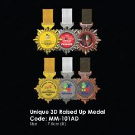 Unique 3D Raised Up Medal MM-101AD