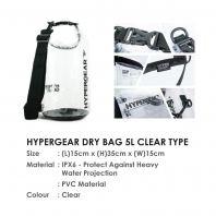 HYPERGEAR DRY BAG 5L CLEAR TYPE