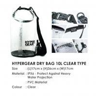 HYPERGEAR DRY BAG 10L CLEAR TYPE