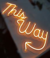 This Way LED Neon Light (Yellow)