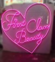 First Class Beauty LED Neon Light (Magenta Pink)