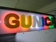 3D Lettering aluminium box up with LED light backlit lighting