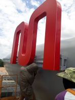 3D Lettering aluminium box up with LED light