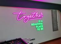 LED neon light signage with PVC foamboard