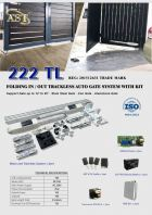 222 TL TRACKLESS FOLDING GATE
