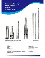 Extrusion Screw/Barrel Series