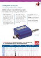 Rotary Torque Sensors - Torque Range from 0.2 to 1400 N.m