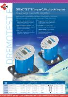 DREMOTEST E Torque Calibration Analysers - Torque Range from 0.2 to 3000 N.m
