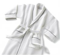 Bathrobes with silver or blue boarder