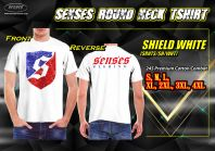 SENSES ROUND NECK TEE SHIRT-SHIELD WHITE