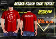 SENSES ROUND NECK TEE SHIRT-SHIELD RED