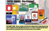 White PVC or Pre-Pinted MIFARE® Cards
