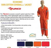 Furico Eco Cotton Coverall 195gsm