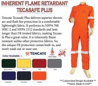 Tecasafe Plus 580 Inherent Flame Resistance Coverall 200gsm