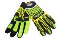 Seibertron HIGH-VIS SDXG2 Dexterity Super Grip GEL Oil & Gas Anti-Vibration Impact Protection Safety Gloves CE EN388 4131