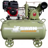 Swan HVU-203E Air Compressor with B&S Petrol Engine 6.5HP, 12Bar, FAD270L/min, 960rpm,