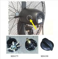 650mm Industrial Stand Fan Adjustable Switch ID554175 ID004190
