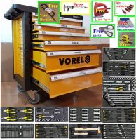 Free 1/2 Air Impact Wrench-  Vorel  YT-58540 6 Drawer Tool Cart With Tools 177pcs ID31236