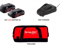Europa Hilt E20SK-221 20V 2.0AH Starter Kit With Battery Charger ID32715