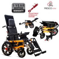 Fresco Lie Down Electric Wheelchair Automatic Reclining Wheelchair