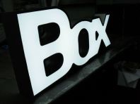 Acrylic 3D led lighting box lettering /night  effect (click for more detail)