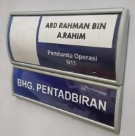 moden door sign with magnectic