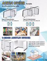 acrylic divider Pannal for office table