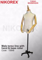 15848-Male torso line with  hand & base roller