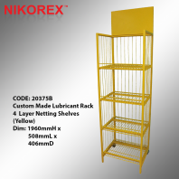20375B - Lubricant Rack 4  Layer Netting Shelves