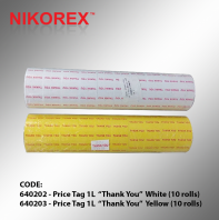 640202 : 640203 - Price Tag 1L  ��Thank You��