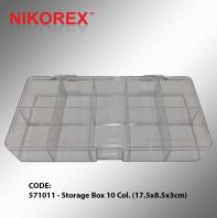 571011 - Storage Box 10 Col. (17.5x8.5x3cm)