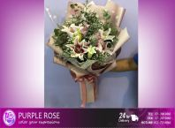Lillies/Tulips bouquet 17(SGD66)